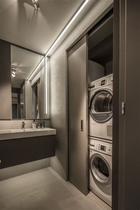 small bathroom design hide a washer and dryer a