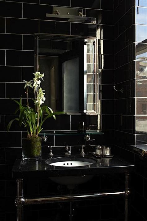 le carrelage noir entre dans la salle de bain  la cuisine archzinefr
