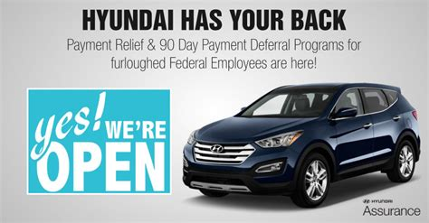 Hyundai Assurance Program by Hyundai Has The Back Of Furloughed Federal Employees