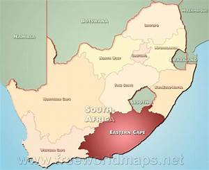 Eastern Cape map - South Africa