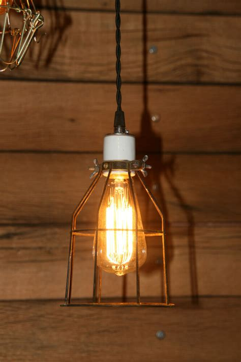 Hanging Pendant Light With Industrial Vintage Style Wire
