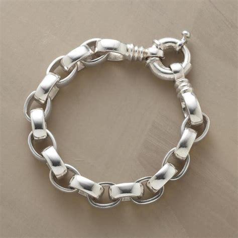 Handmade Silver Link Bracelet  Robert Redford's Sundance. Onyx Bands. Gold Locket Chains. Grandparent Necklace. Rod Earrings