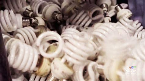 energy saving bulbs tossed in trash leaking mercury into