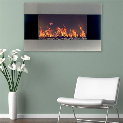 electric wall fireplace ideas   pinterest