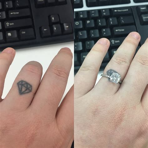 does anyone have a left ring finger tattoo