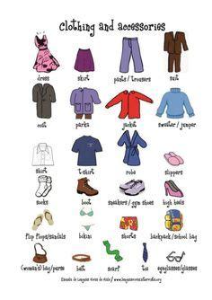 clothing clothes activity worksheet slp pinterest