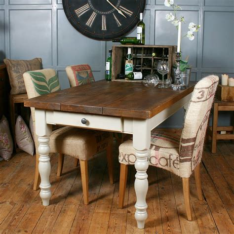table et chaise de bar solid wood vintage farmhouse table by h f notonthehighstreet com