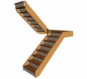 Escalier 2/4 tournant avec palier
