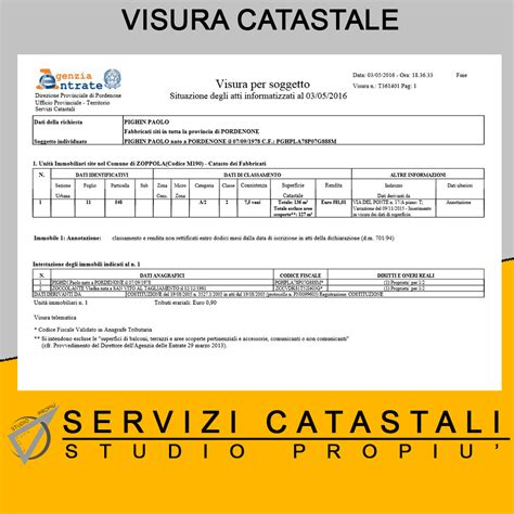Calcolo Consistenza Catastale by Consistenza Catastale Beautiful Visura Catastale Per