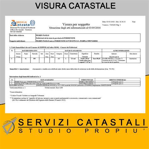 Visure Catastali Gratis Per Codice Fiscale by Visure Catastali