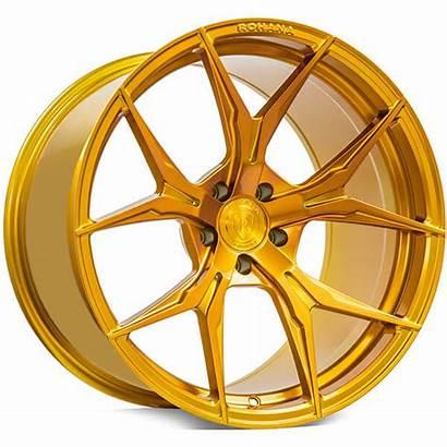 Gold Wheels Rims Rohana Gloss Rfx5 Staggered