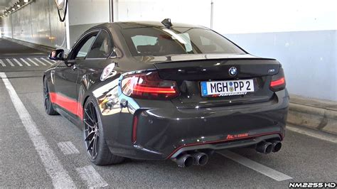 bmw m2 performance bmw m2 f87 pp performance with fi exhaust loud sounds
