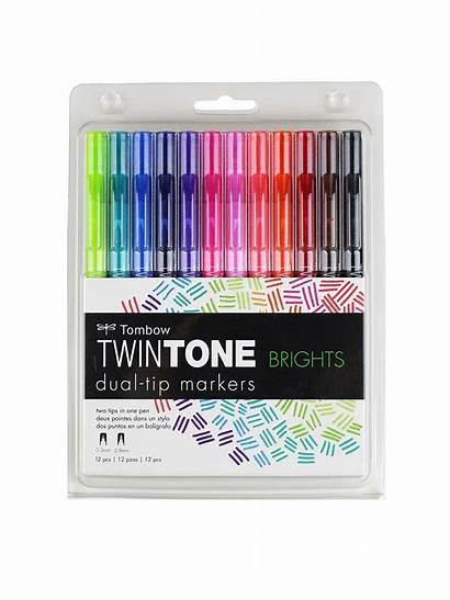 Markers Dual Tip Twintone Tombow Permanent Misterart