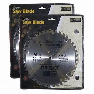 PRO-SERIES 10 in. Carbide Tip Saw Blade Set (2-Pack ...