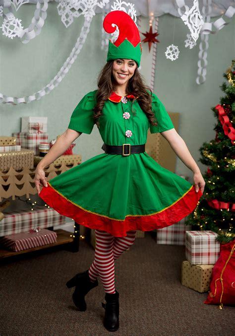 Women's Holiday Elf Plus Size Costume
