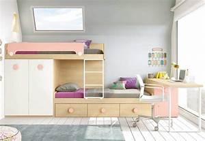Lit Avec Bureau : lit superpos avec bureau pour la chambre enfant glicerio so nuit ~ Teatrodelosmanantiales.com Idées de Décoration