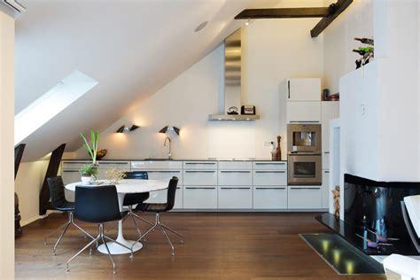 arredamento mansarda moderna cucina moderna