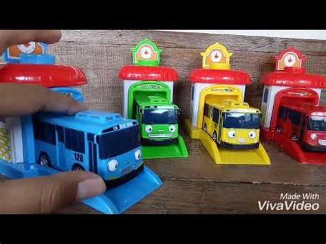 tayo little bus mainan anak tayo garasi youtube