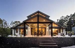 Modernes Haus Satteldach : modernes haus mit satteldach berdachte terrasse sitzecke ~ A.2002-acura-tl-radio.info Haus und Dekorationen