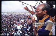 General Mohammad Farrah Aidid addresses supporters June 17 ...