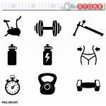 Fitness Workout Icon Clipart Gym Clip Silhouette