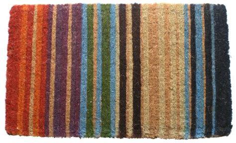 Thick Coir Doormat rainbow stripe made thick coir doormat 18 quot x 30