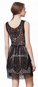 YOANA BARASCHI ANTHROPOLOGIE Black Lace AT DUSK Silk Organza Dress NWT EBay