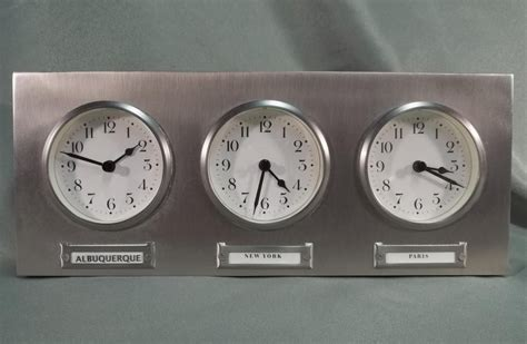 pottery barn time zone world clock