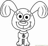 Pound Puppies Coloring Rebound Pages Cartoon Coloringpages101 sketch template