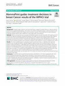 Pdf  Mammaprint Guides Treatment Decisions In Breast