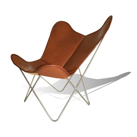 butterfly chair original hardoy butterfly chair original leather tobacco brown with ottoman weinbaums