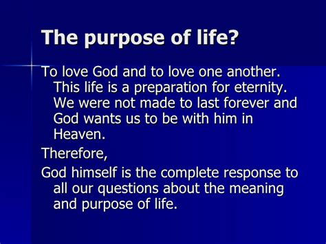 what is the meaning of a 1 what is the meaning and purpose of life