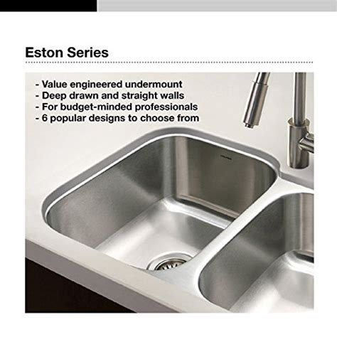 kitchen sink sts houzer sts 1300 1 eston series undermount stainless steel 2908