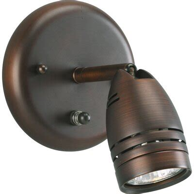 progress lighting wall directional spotlight in urban bronze reviews wayfair