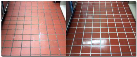 how to clean grout on kitchen floor tiles tile cleaning before after 9714