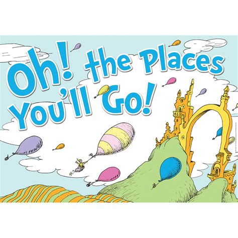 Dr Seuss™ Oh The Places You'll Go Poster  Eureka School. Toys For Tots Flyer. Prayer Breakfast Flyer Template. Donation Tax Receipt Template. Mood Board Template. Critical Path Analysis Template. High School Graduation Themes. Free Real Estate Templates. Easiest Graduate Schools To Get Into