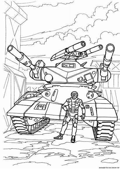 Tank Future Army Coloring Boys Pages Super