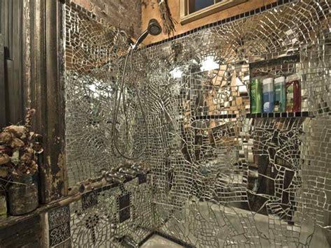 Broken Mirror Shower Mosaic