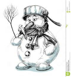 Funny Snowman Drawings