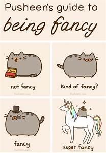 Pusheen's guide to being fancy.   Pusheen   Pinterest ...