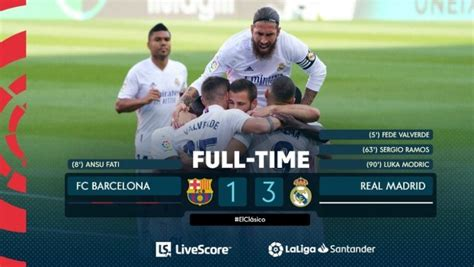 El Clásico: Real Madrid come up top in first El Clásico of ...