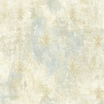 painted fleur de lis wallpaper sky blue  taupe