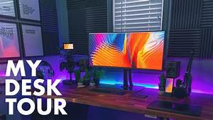 Creative HOME OFFICE Desk Setup Tour! – Graphic Designer ...