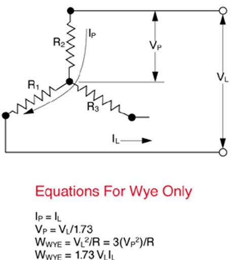 Watlow Delta Wye Circuit Equations