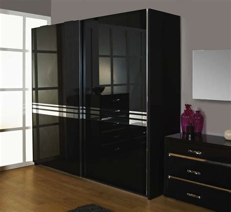 Black Wardrobe by 15 Best Collection Of High Gloss Black Wardrobes