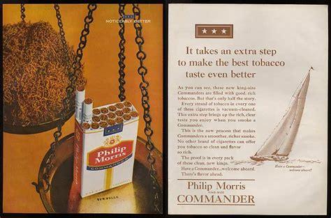 adspastcom  philip morris commander cigarette  page ad