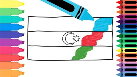 Drawing The Azerbaijani Flag