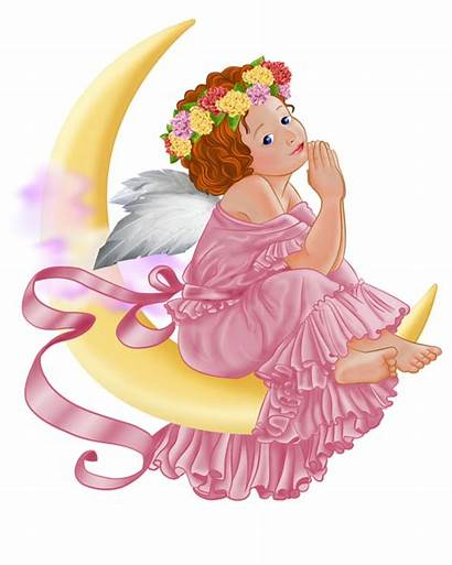 Angel Moon Clipart Angels Transparent Previous