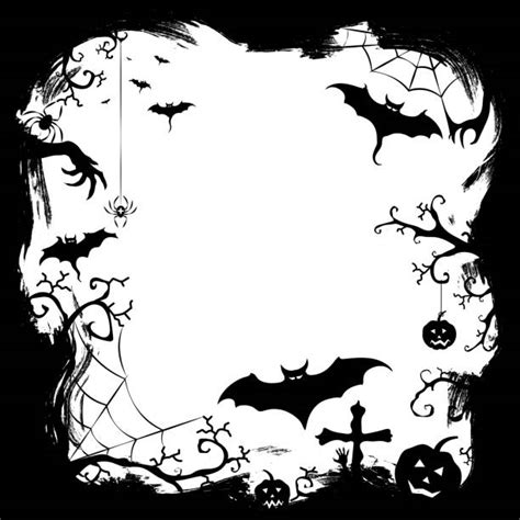 halloween borders illustrations royalty  vector