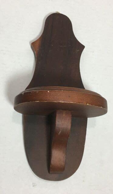 vintage wooden hanging single wall shelf  statue  ebay